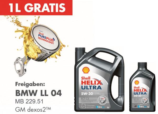 5+1 Shop Angebot - Shell Helix Ultra ECT C3 5W-30 - (5 Liter kaufen - 1 Liter gratis)